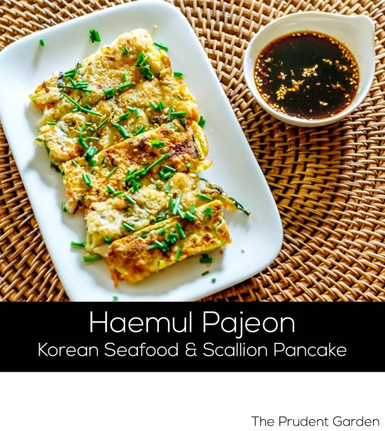 Korean Seafood And Scallion Pancake (Haemul Pajeon)