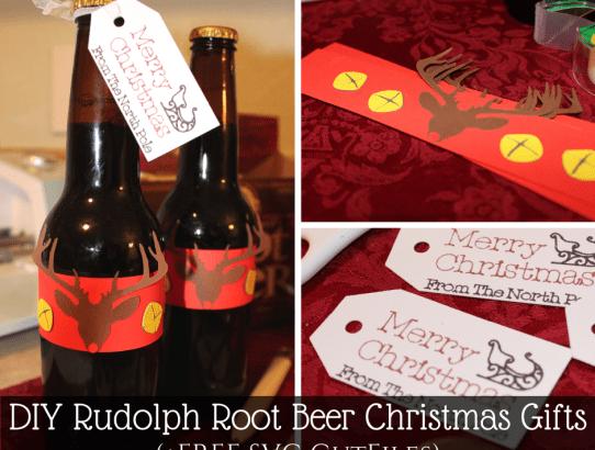 DIY Rudolph Root Beer Christmas Gift