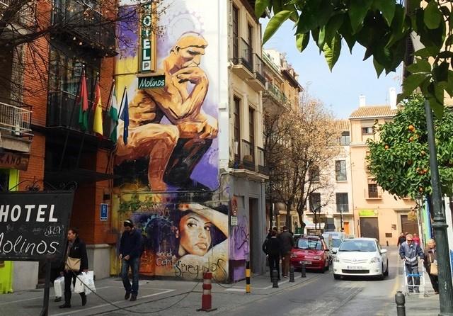 Grenada street art Spain