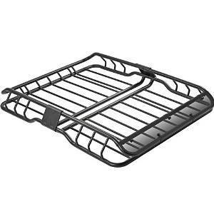 Heavy Duty Vehicle Roof Cargo Basket with Wind Fairing