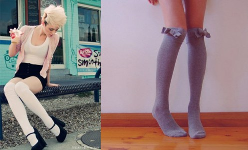 circus style how to, how to wear knee high socks, knee high socks