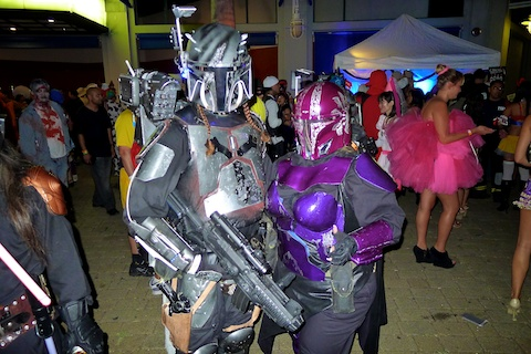 thereafterish, Aloha Tower Halloween Party, Boba Fett Costume