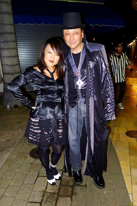 thereafterish, Aloha Tower Halloween Party, Goth Kpop Star Costume