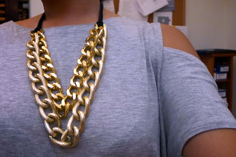 thereafterish, ootd, gold neck party, HRH Collection jewelry