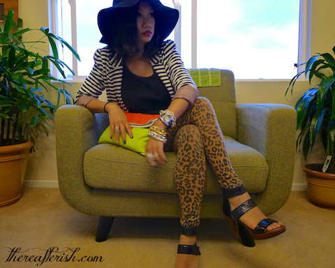 thereafterish, ootd, how to mix prints, striped blazer, leopard pants, hawaii street style