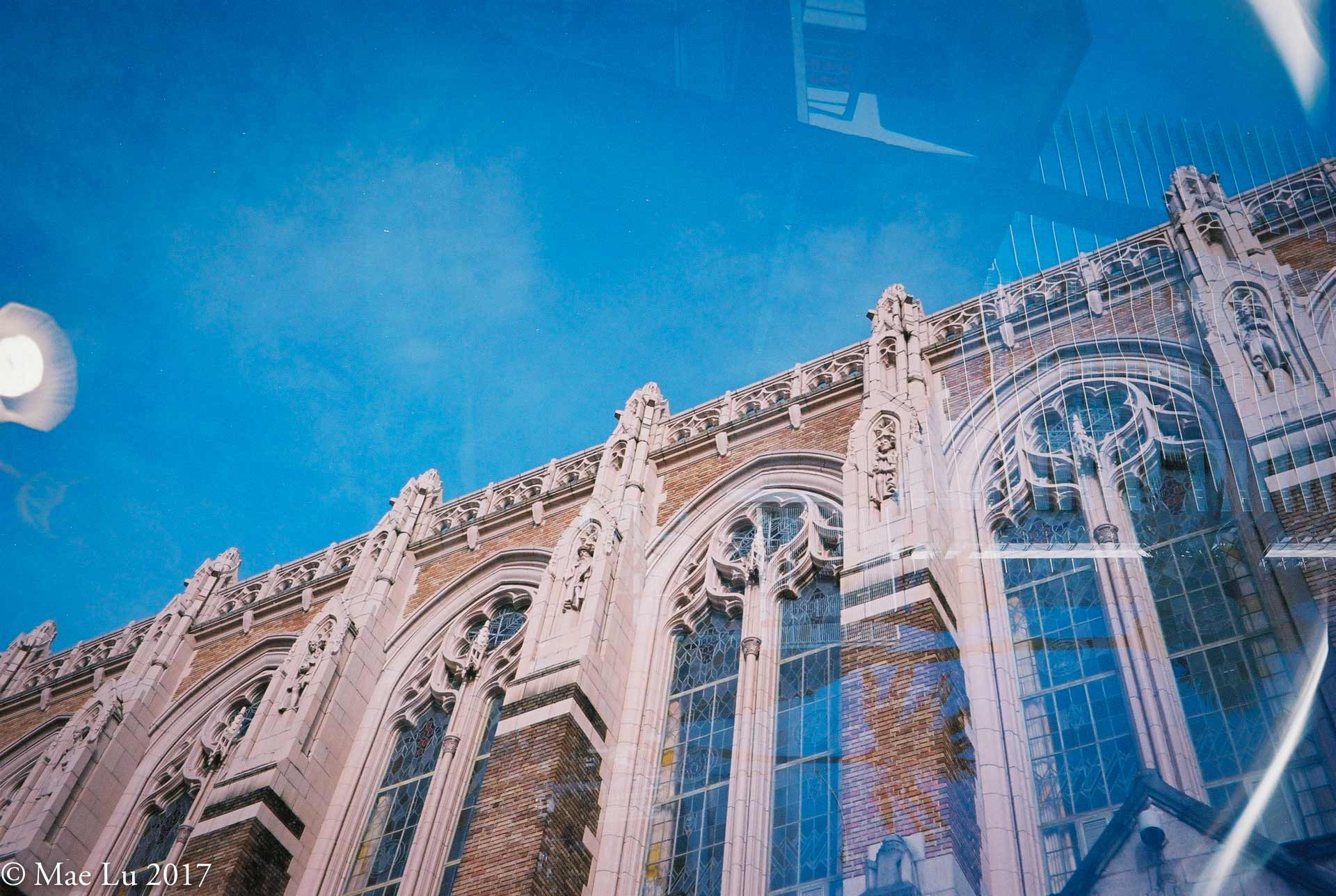 thereafterish film is not dead photo of Suzallo library ornamental decorations on building