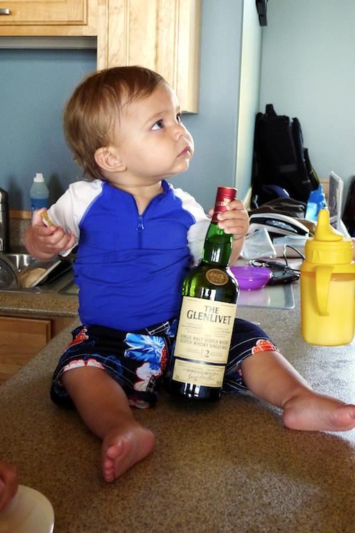 Port Hood, Baby with Scotch, Port Hood Place, Cape Breton Island