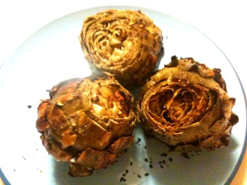 easy summer recipe, grilled seasoned artichokes