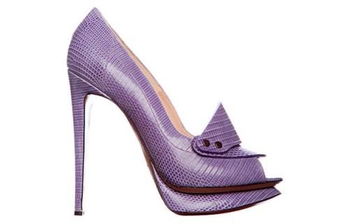 Nicholas Kirkwood Spring Summer 2012 lavender stiletto loafer