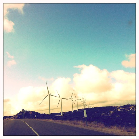 San Diego East County Wind Farm, I-8 Road Trip, Hipstamatic Photography