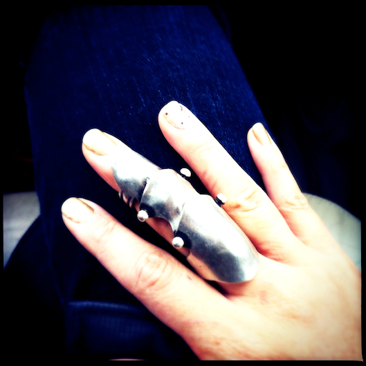 Jan Photo a Day, Instagram, JewelMint New Wave Ring, Armor Finger Ring