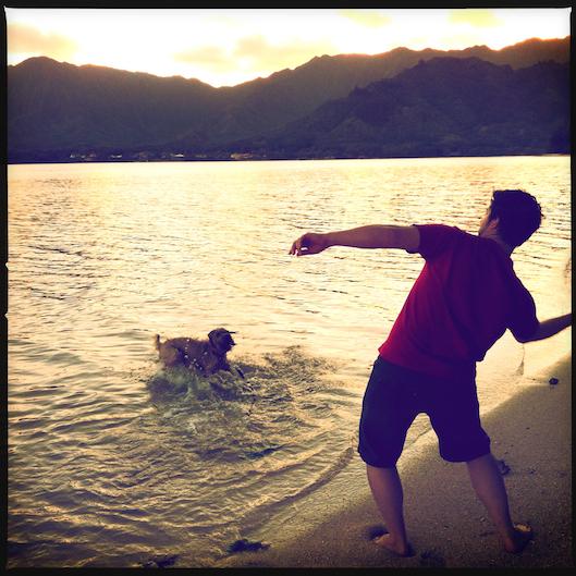 Jan Photo a Day, Instagram, Hawaii Sunset, Oahu Living, Kualoa Beach