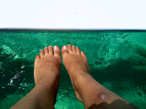 { Gross feet, but enchanted, magical and gorgeous waters. }