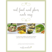 Real Food Meal Plans Made Easy | 4-week Gluten-free Meal Plan + Grocery List http://simplynourishedrecipes.com/product/real-food-meal-plan/