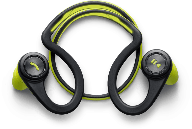 Plantronics BackBeatFit Green Coiled