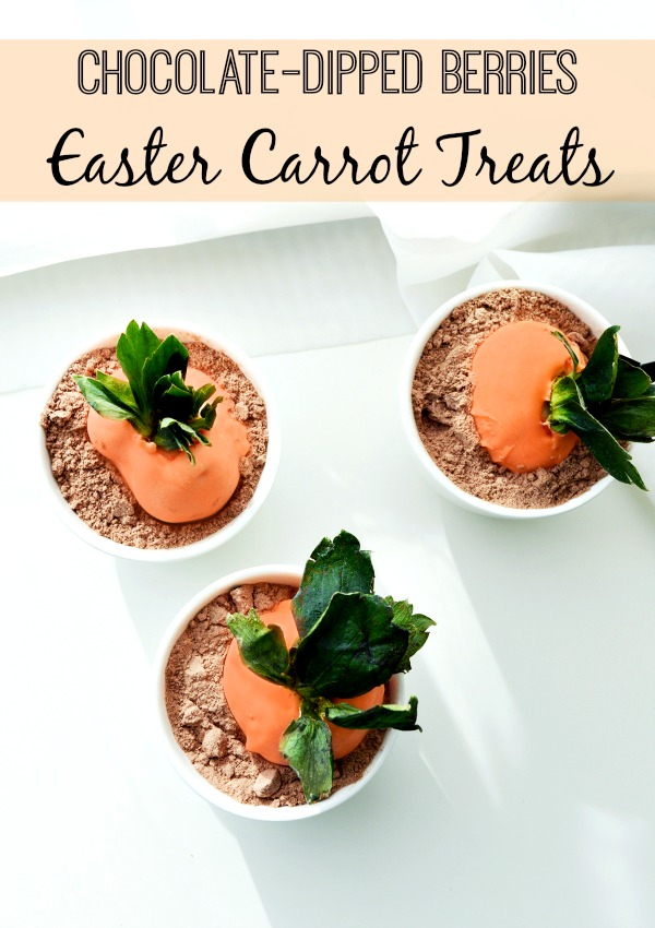 Chocolate-Dipped Berries make perfect Easter Carrot Treats!