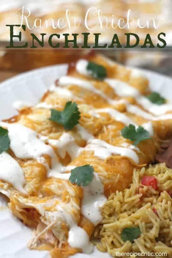 Paleo Chicken Ranch Enchiladas