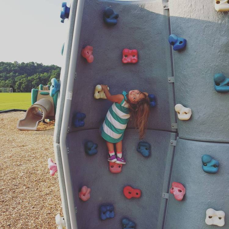 What a beautiful day for rock climbing at the park!hellip