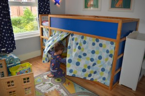 IKEA mid-sleeper toddler bed curtains