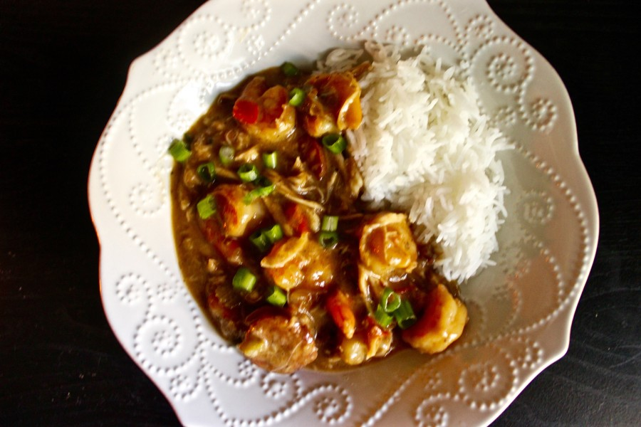 Creole Chicken, Sausage, and Shrimp Gumbo