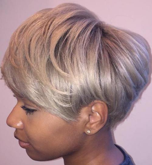 Ash Blonde Pixie Bob For Black Women
