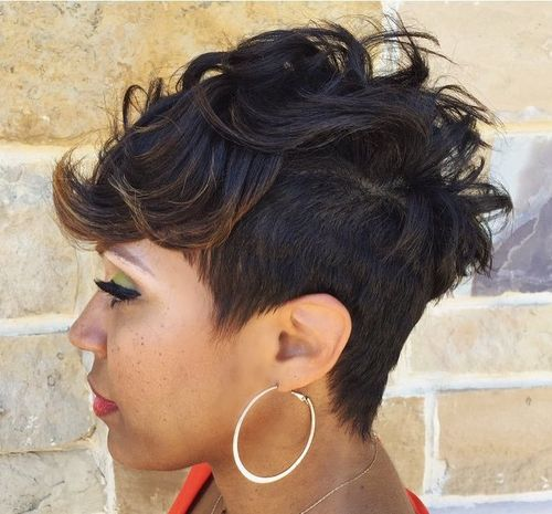 short black fauxhawk for women