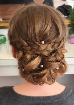long hair prom chignon updo