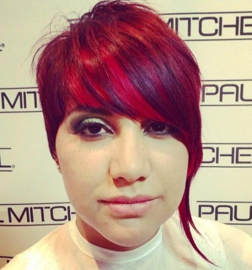 Short Asymmetrical Haircut With Bangs