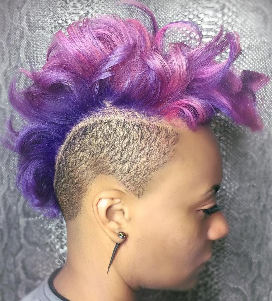 Pastel Purple Mohawk For Women