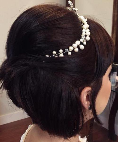 Wedding Half Updo For Short Hair