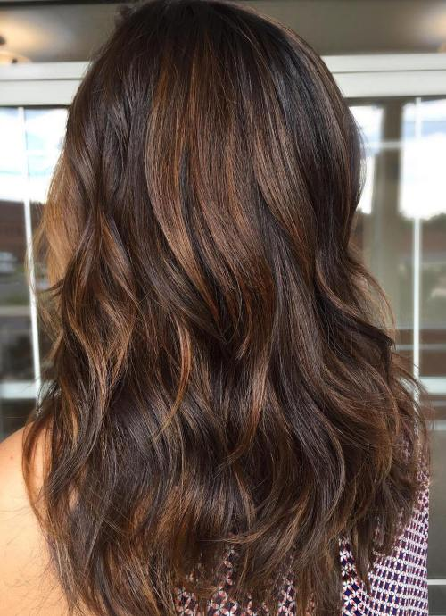 Dark Brown Hair With Light Brown Highlights