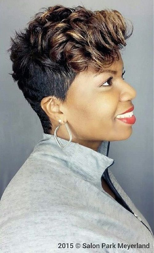 black short curly hairstyle