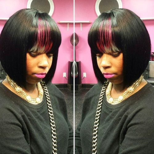 bob weave hairstyle for African-American women