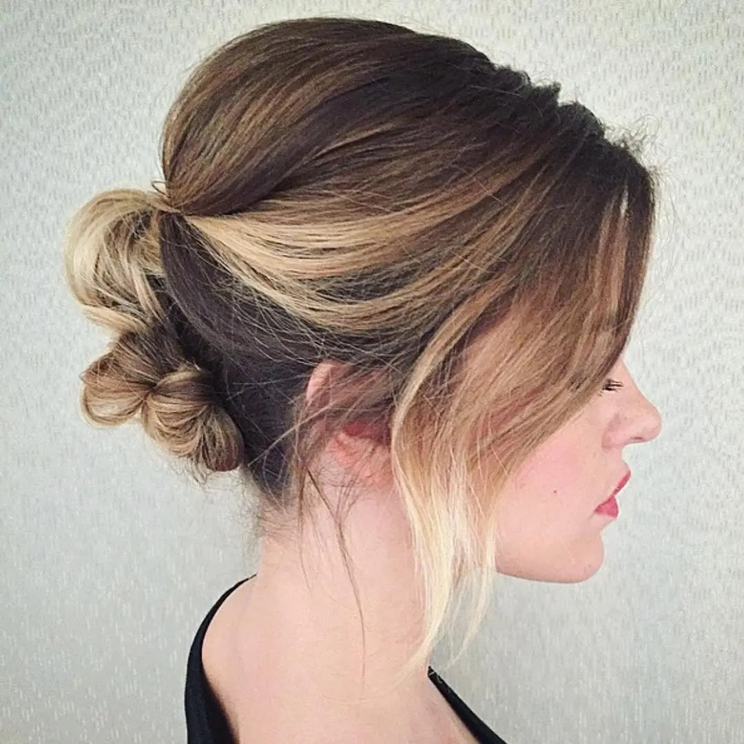 Knotted Updo For Bob Length Hair
