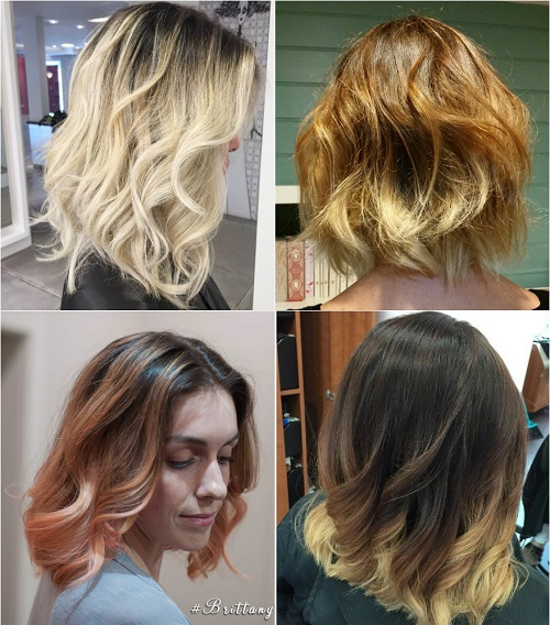 ombre ideas for medium-length hair