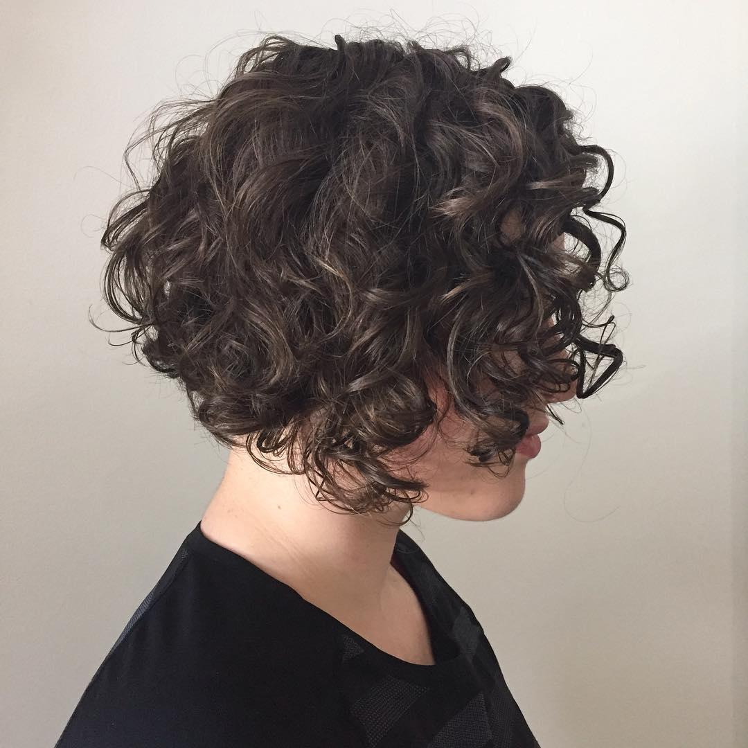 Curly Chin-Length Bob