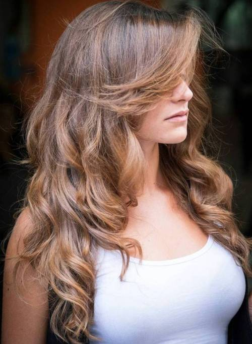 Long Curly Light Brown Hair