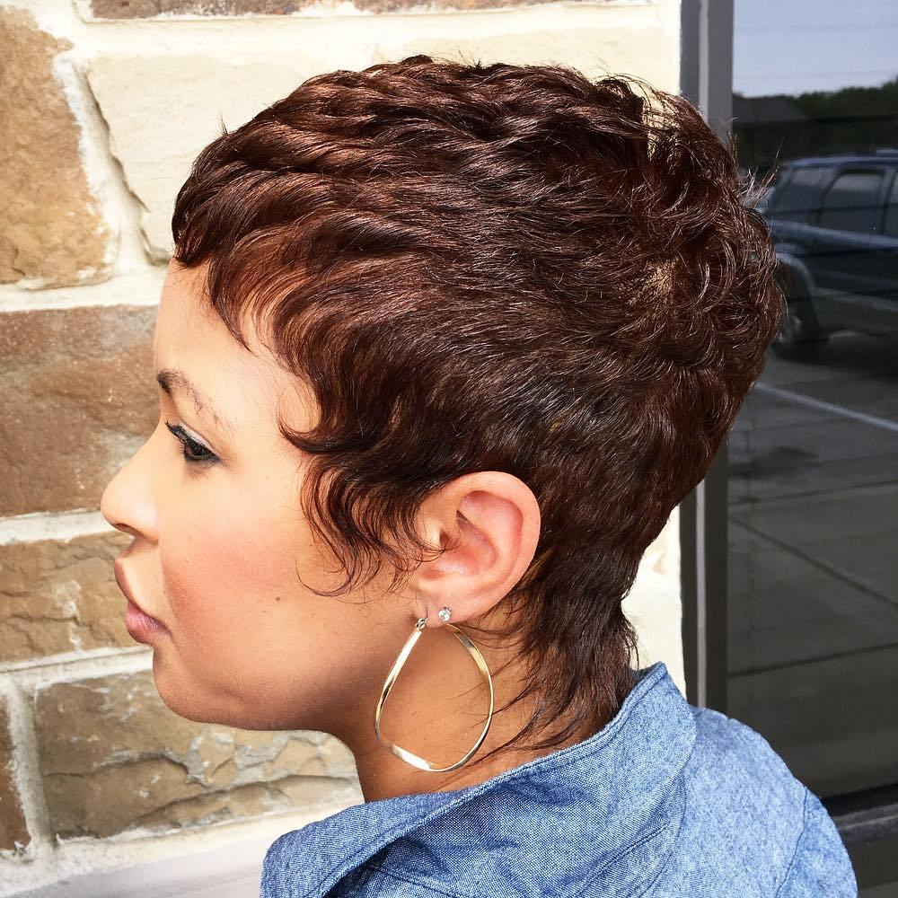 Pixie With Long Sideburns And Nape