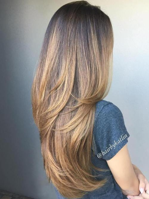 Hairstyles For Long Hair With Layers : Light Brown Balayage For Long Hair