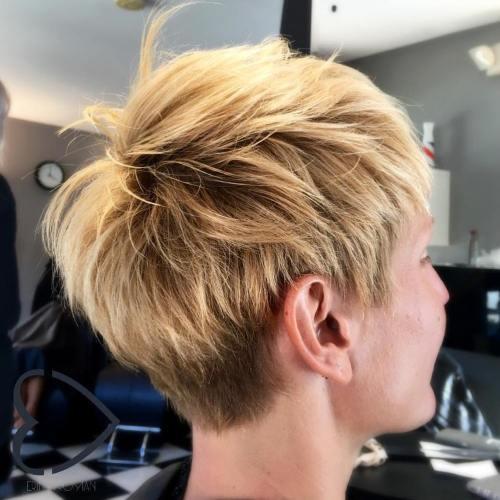 Spiky Brown Blonde Pixie