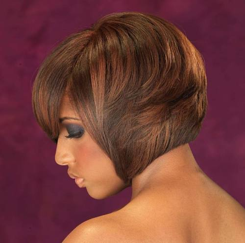 Short Layered Bob For Black Women