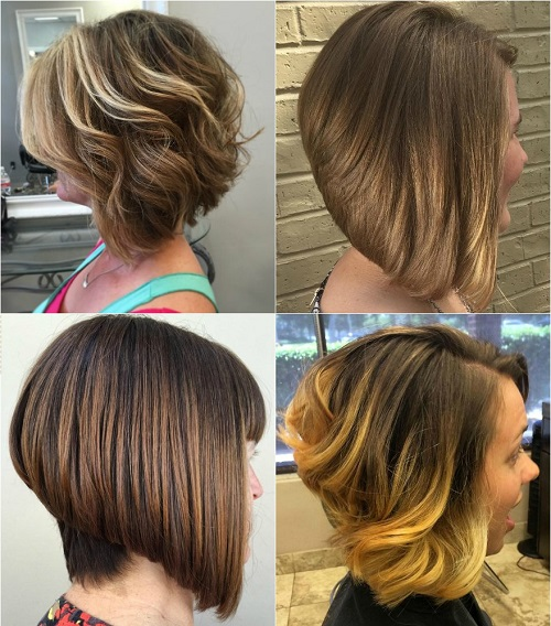 stacked bob cut for thick hair