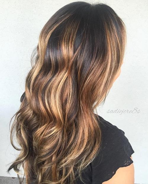 Caramel Balayage For Black Hair