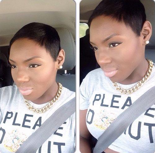 extra short pixie for black women