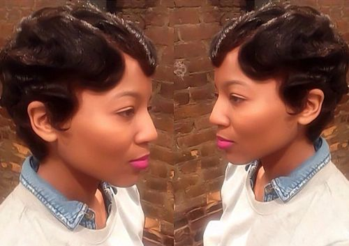 short vintage hairstyle for African American women