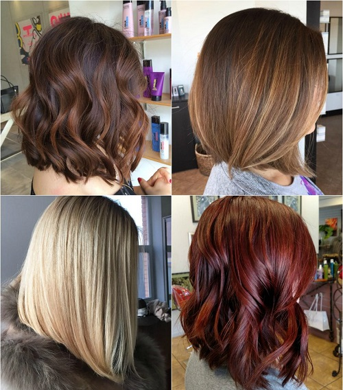 shoulder-length bob haircut for thick hair