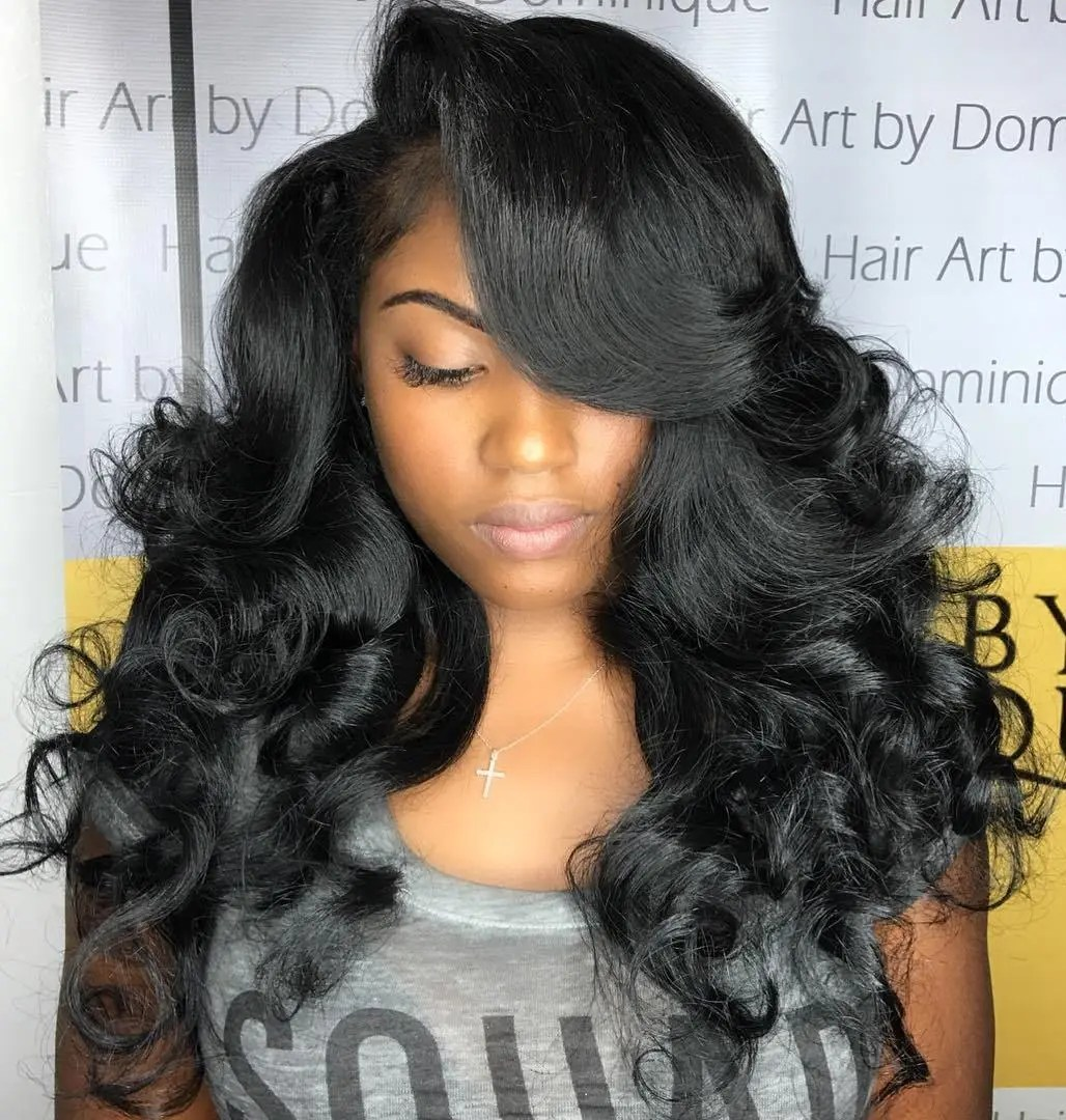 Peachy 50 Best Eye Catching Long Hairstyles For Black Women Hairstyle Inspiration Daily Dogsangcom