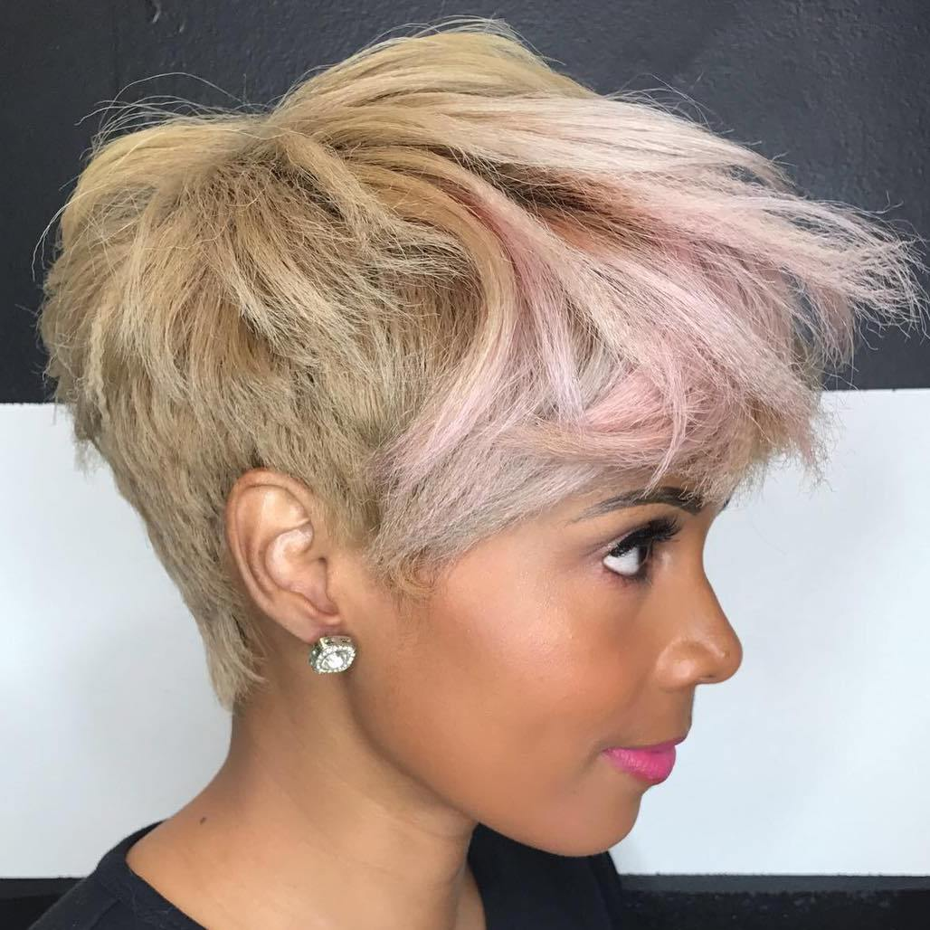 Short Tapered Hairstyle With Bangs