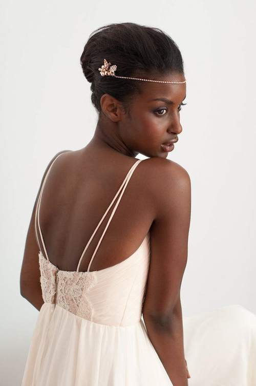 French knot black bridal updo