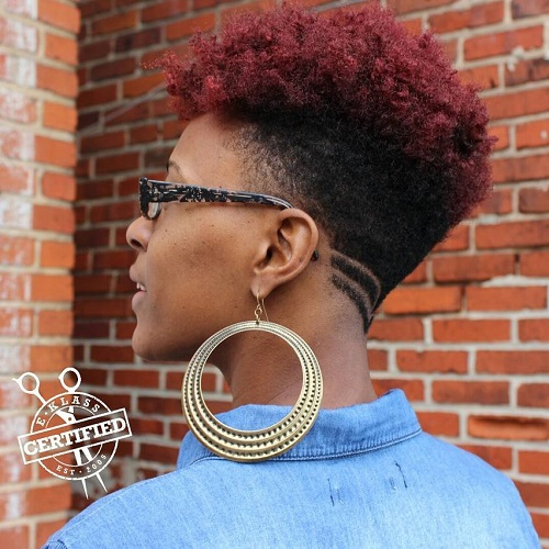 women's undercut haircut for natural hair